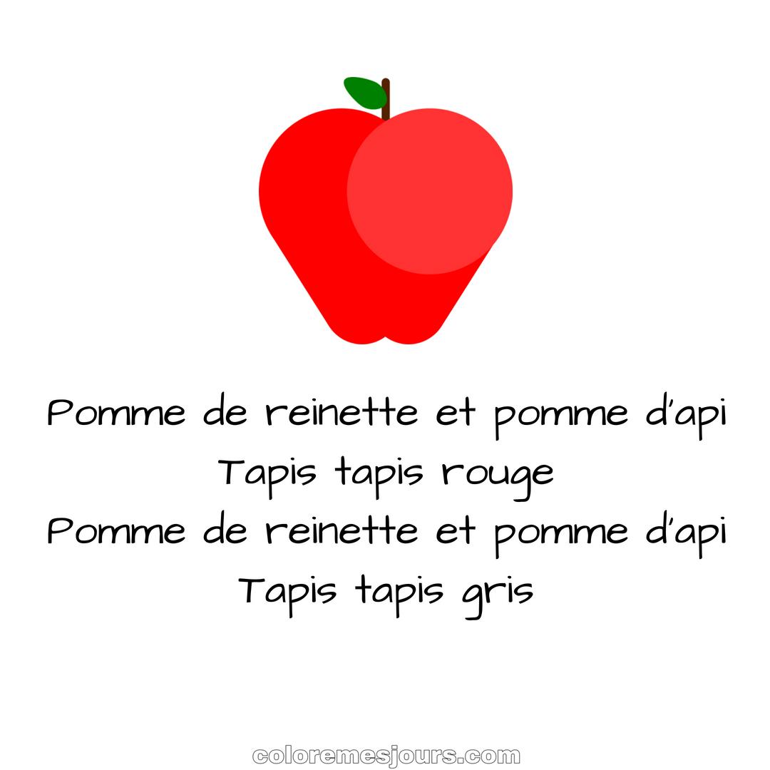 Pomme De Reinette Et Pomme D'Api | Colore Mes Jours serapportantà Pomme De Renette