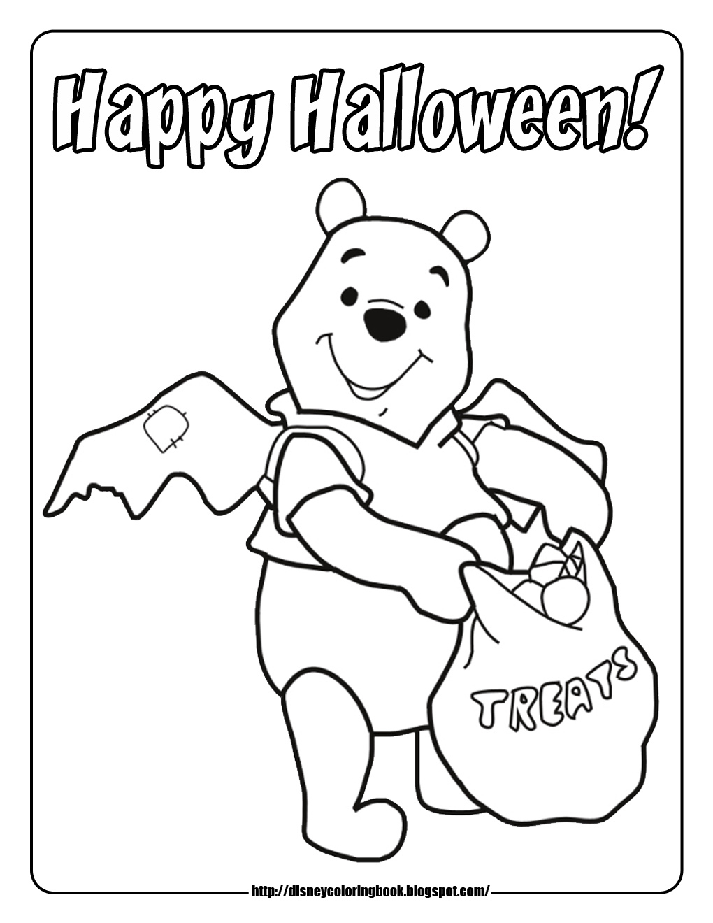 Pooh And Friends Halloween 2: Free Disney Halloween concernant Trick Or Treat Coloring Book: Trick Or