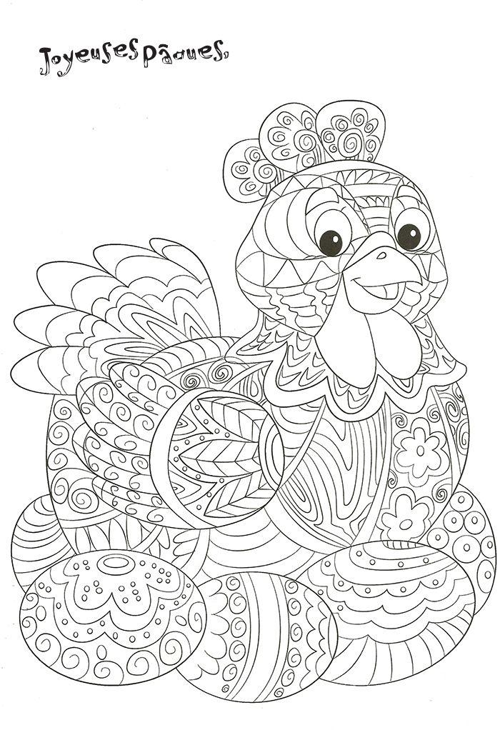 Poule De Pâques A Decorer | Poules De Paques, Coloriage concernant Coloriage Paques À Imprimer