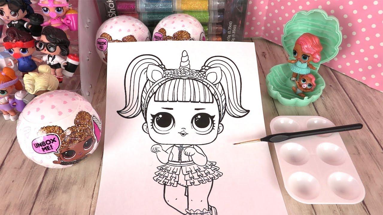 Poupées Lol Coloriage Unicorn Confetti Pop Collection pour Colloriage