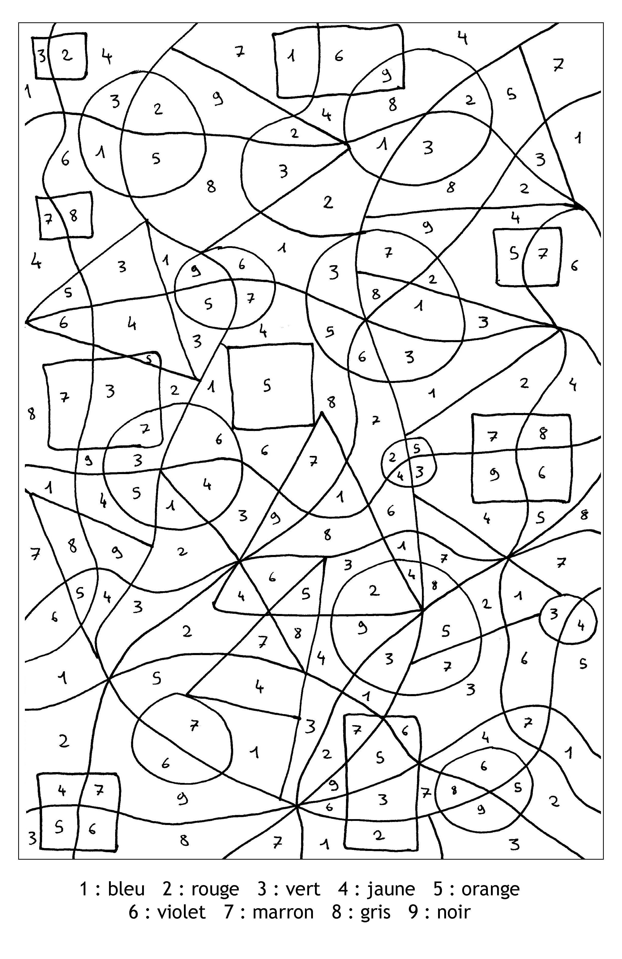 Pour Imprimer Ce Coloriage Gratuit «Coloriage-Magique encequiconcerne Coloriage Avec Chiffre