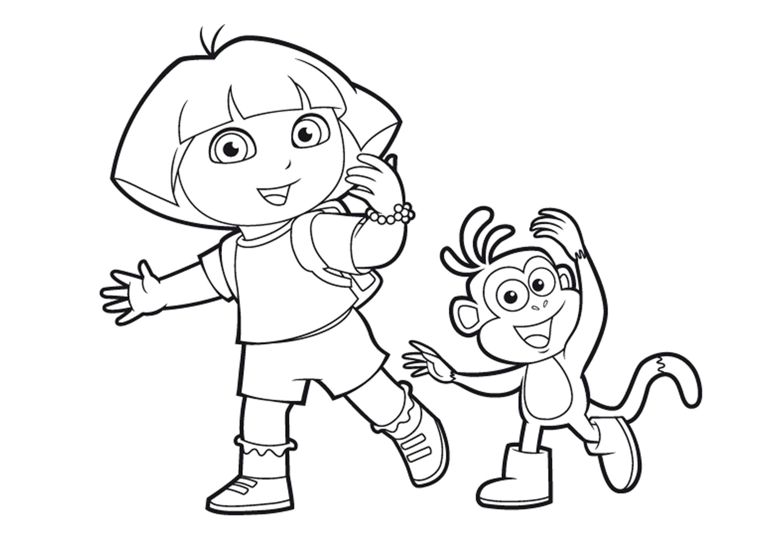 Pourquoi Les Enfants Doivent Colorier à Dessin A Colorier Dora Gratuit A Imprimer