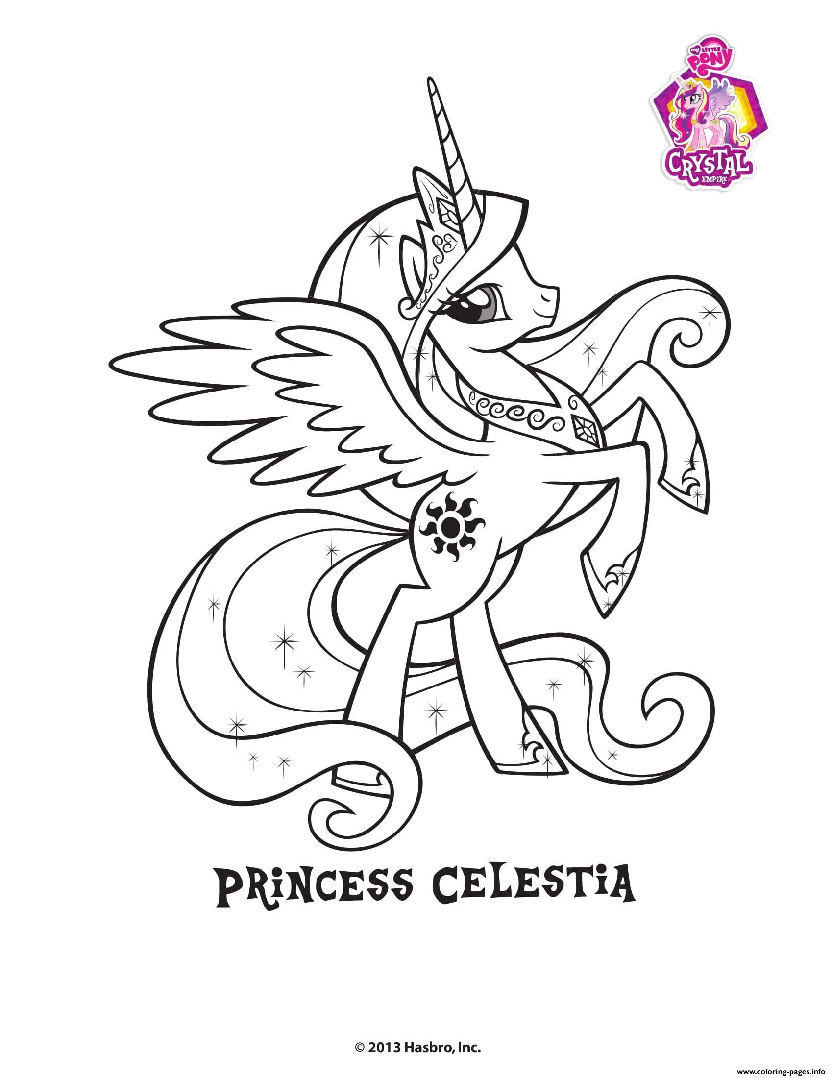 Princess Celestra Crystal Empire My Little Pony Coloring intérieur Coloriage Gratuit My Little Pony