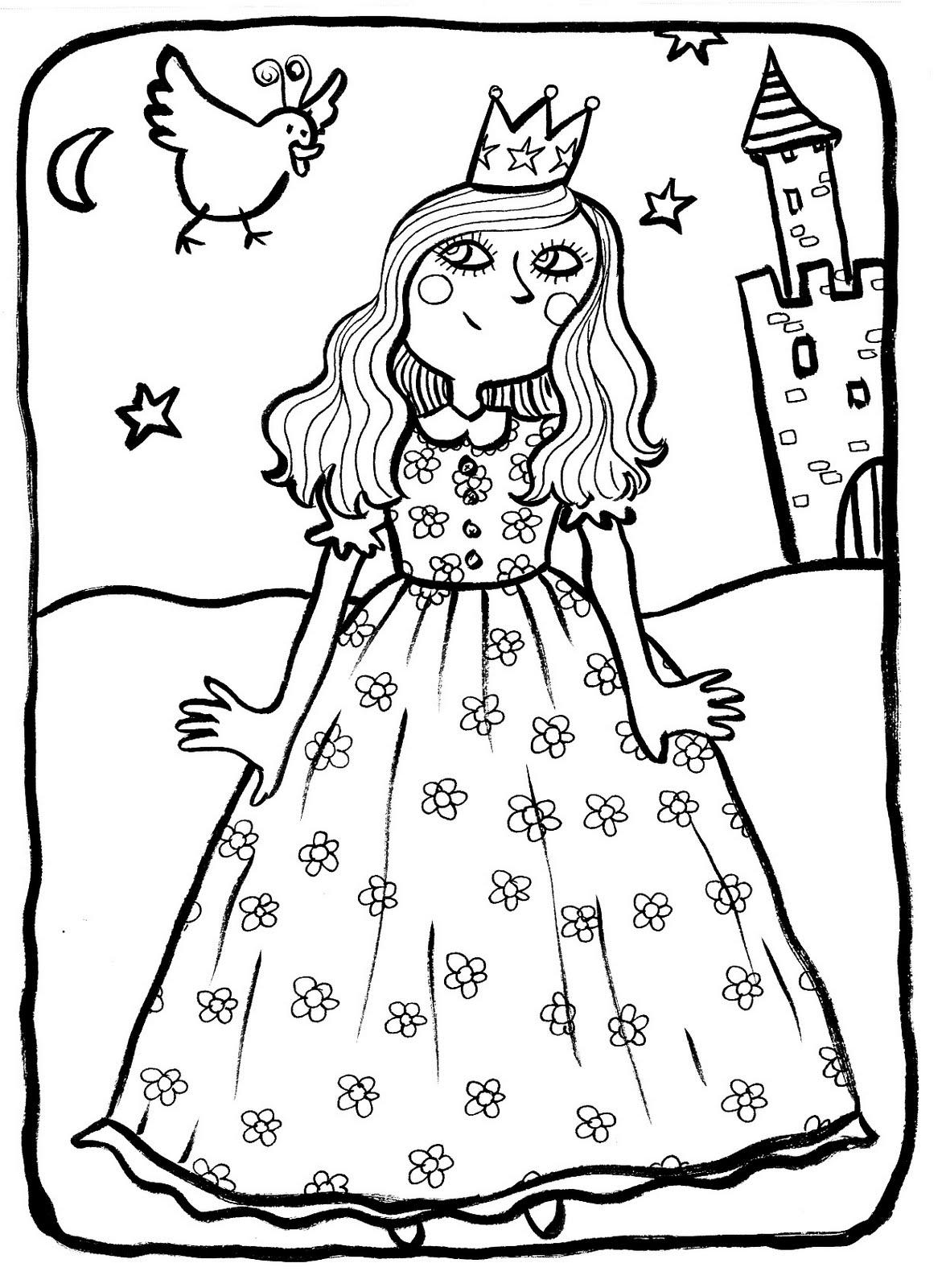 Princesse 3 - Coloriage Princesses - Coloriages Pour Enfants intérieur Coloriage De Tchoupi A Imprimer Gratuit