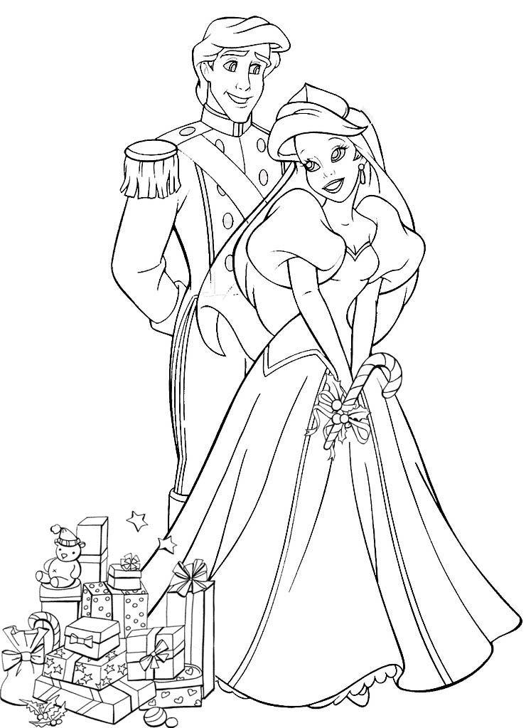 Princesse Ariel Disney - Az Coloriage | Coloriage intérieur Coloriage De Princesses Disney A Imprimer