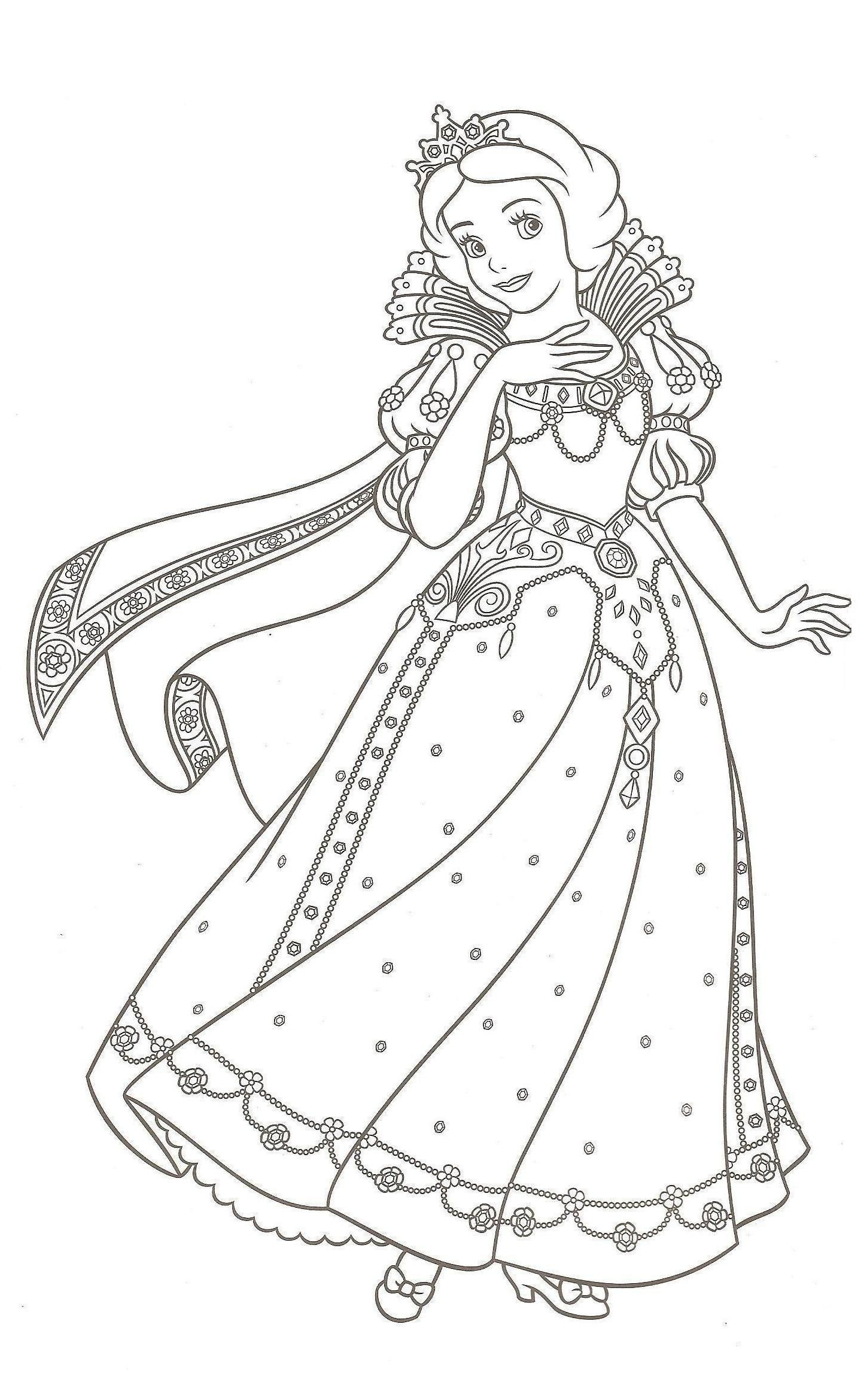 Princesse Disney destiné Coloriages Princesse Disney