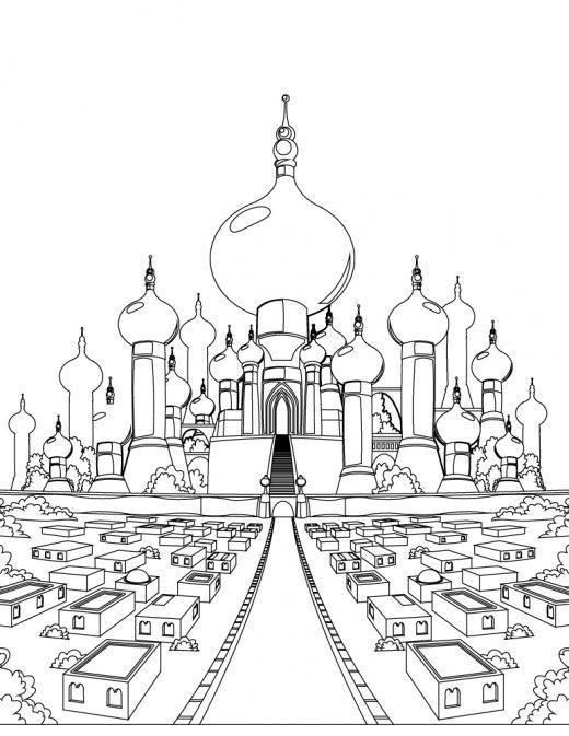 Princesse Jasmine Et Aladdin Archives - Artherapie.ca à Coloriage Chateau Princesse