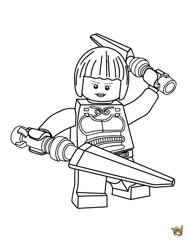 Princesse Nya   Coloriage Lego, Coloriage Ninjago à Coloriage Lego Ninjago