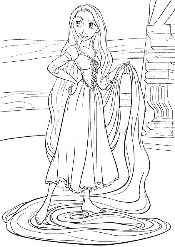 Princesse Raiponce Dessin destiné Dessin Princesse Raiponce