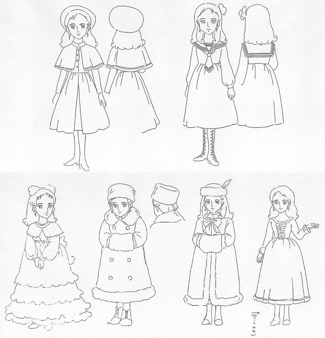 Princesse Sarah : Esquisses Préparatoires   Princesse pour Dessin Animé Princesse Sarah