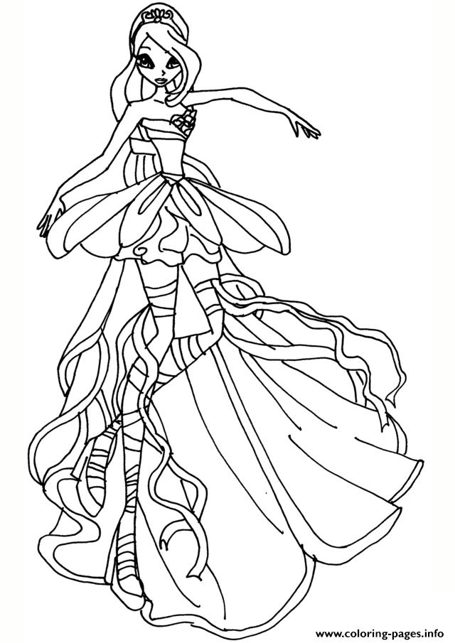 Print Bloom Harmonix Winx Club Coloring Pages | Princess pour Coloriage De Winx Club