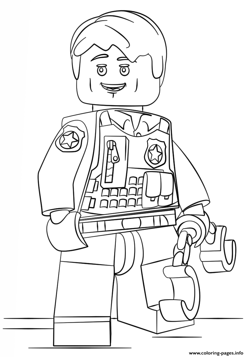 Print Lego Undercover City Coloring Pages concernant Dessin Animé Lego City