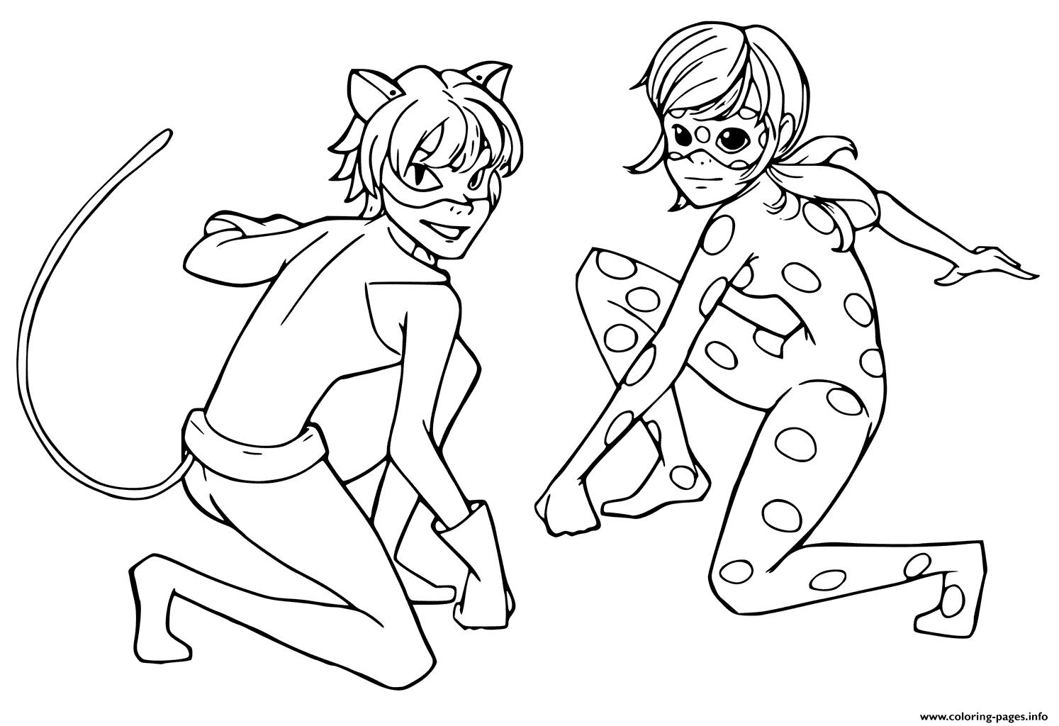 Print Miraculous Tales Of Ladybug Cat Noir Kids Coloring destiné Coloriage Ladybug