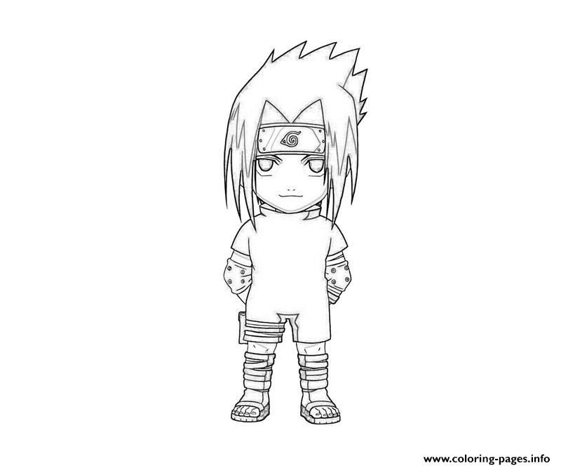 Print Naruto S Cute Sasuke0A61 Coloring Pages | Naruto à Dessin Naruto