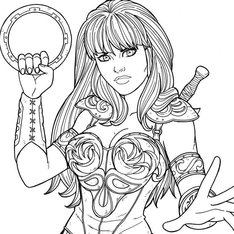 Printable Coloring Pages - Xena (Superheroes) | Superhero destiné Coloriage Super Hero