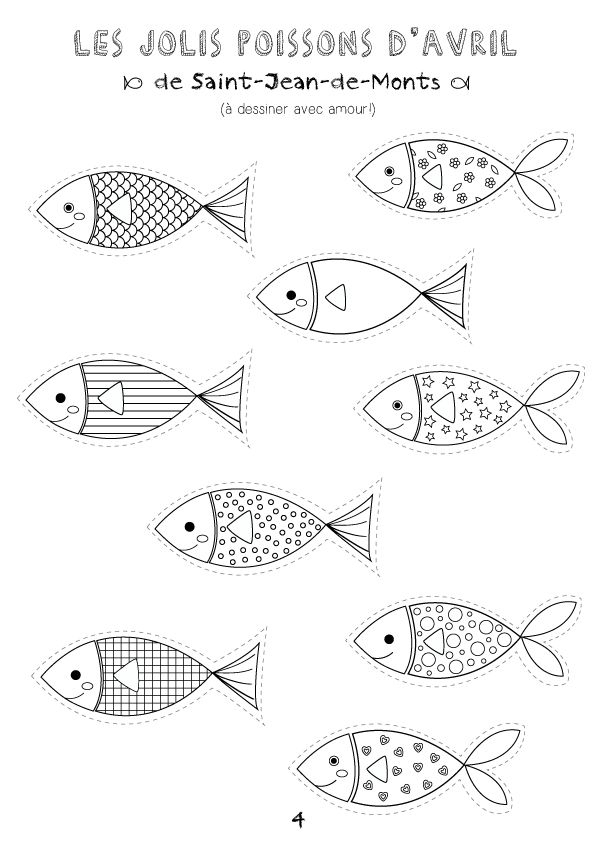 {Printable} ☼ Coloriages Poissons D'Avril ☼ - Créamalice intérieur Poisson D Avril Coloriage A Imprimer