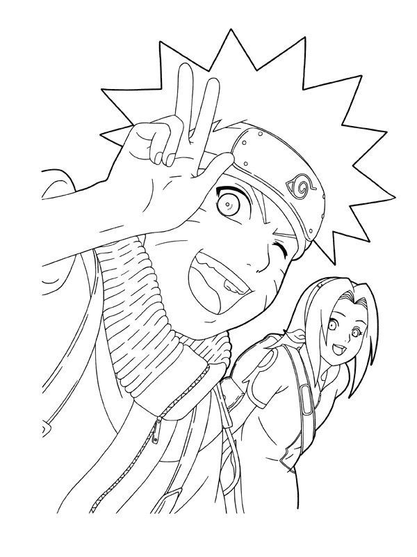 Printable Naruto Coloring Pages Kids | Free Coloring Pages intérieur Naruto Coloriage