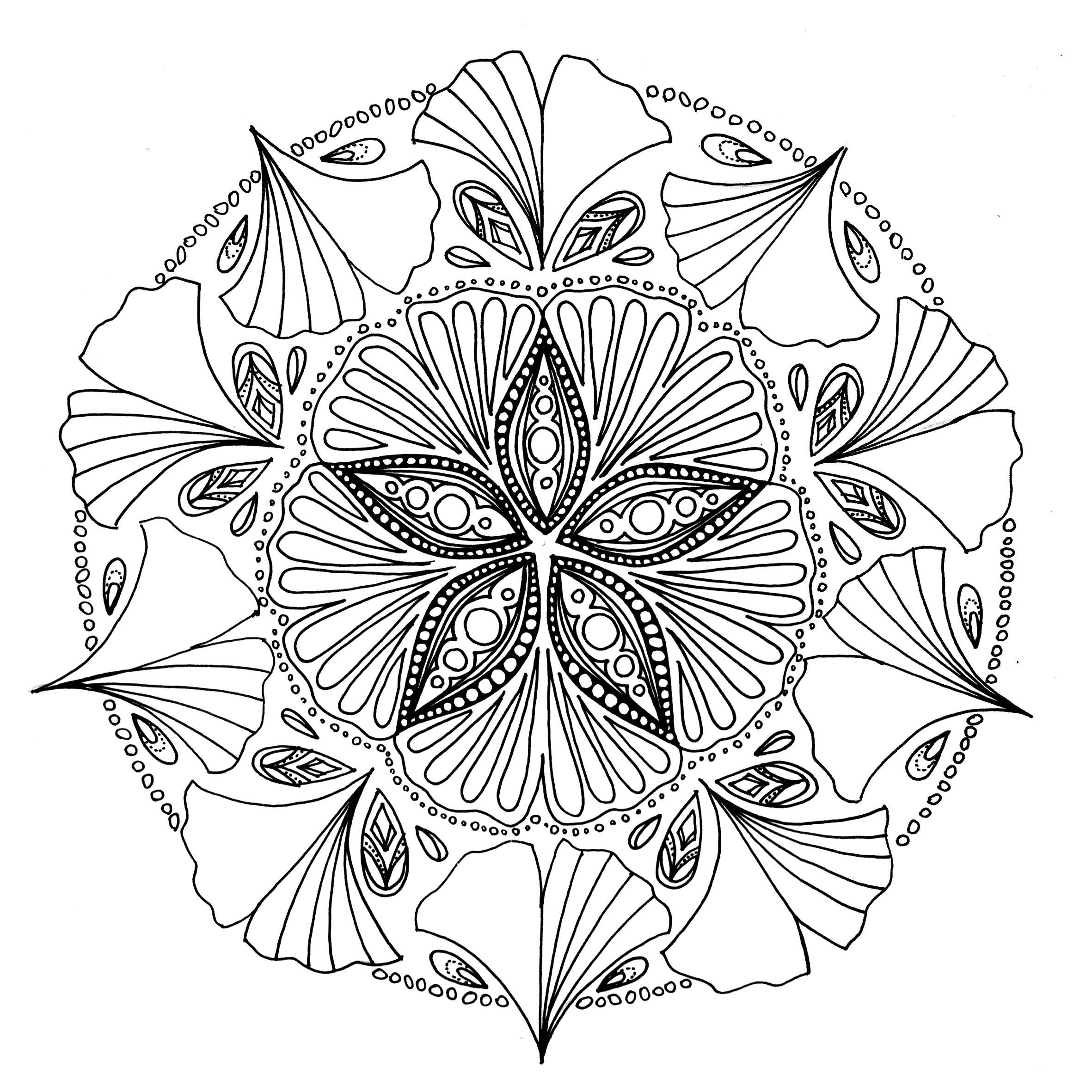 Projet Coloriages Anti-Stress – Part 6 – Le Chocobo tout Coloriage Mandala Anti Stress