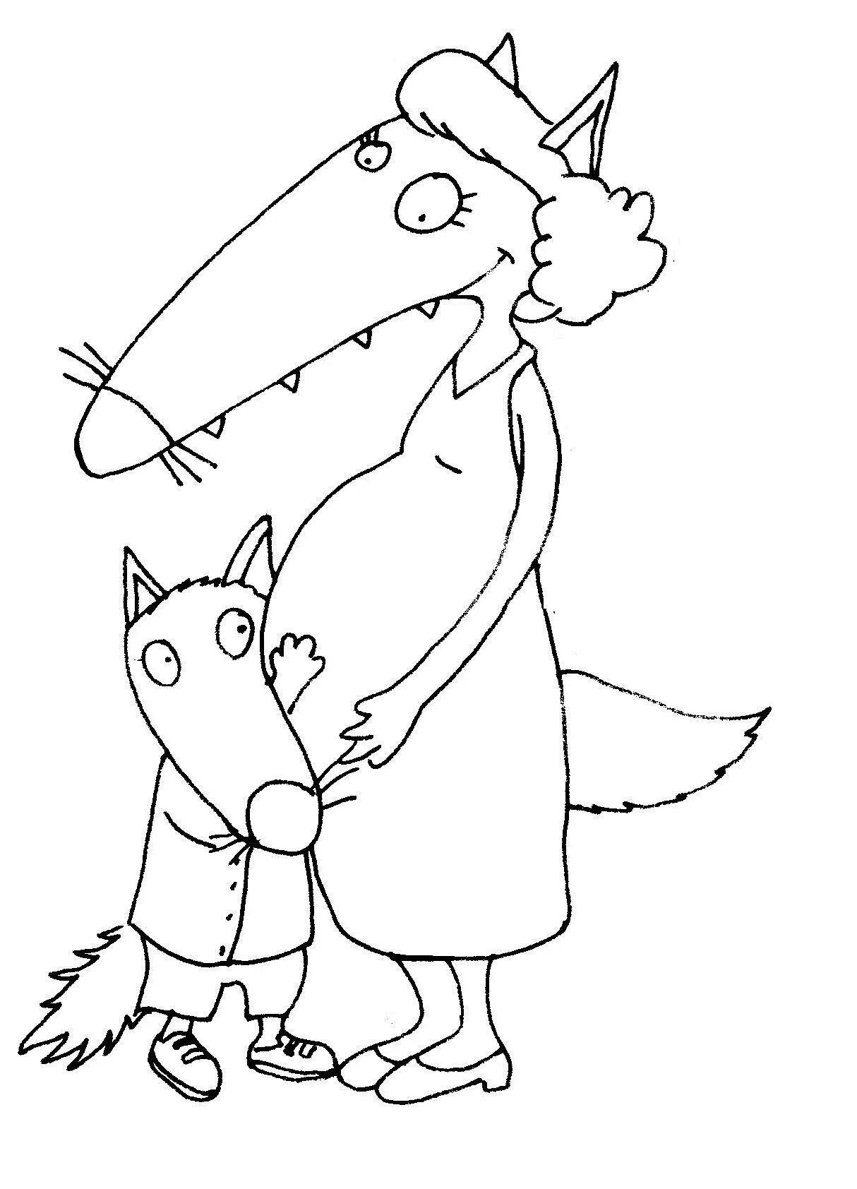Ptit_Loup_Et_Maman_Encinte_1 (1214×1684)   Loup concernant Coloriage Loup Maternelle