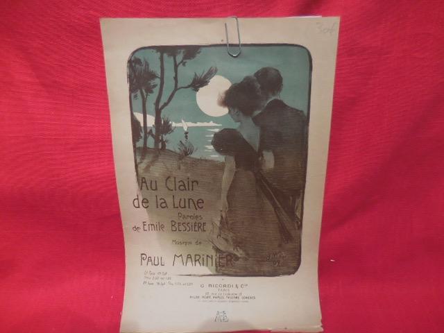 Publicité Pour La Partition De Au Clair De La Lune intérieur Au Clair De La Lune Paroles