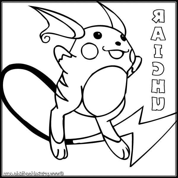 Raichu Coloriage Impressionnant Images Raichu Pokemon dedans Coloriage Pokemon Raichu