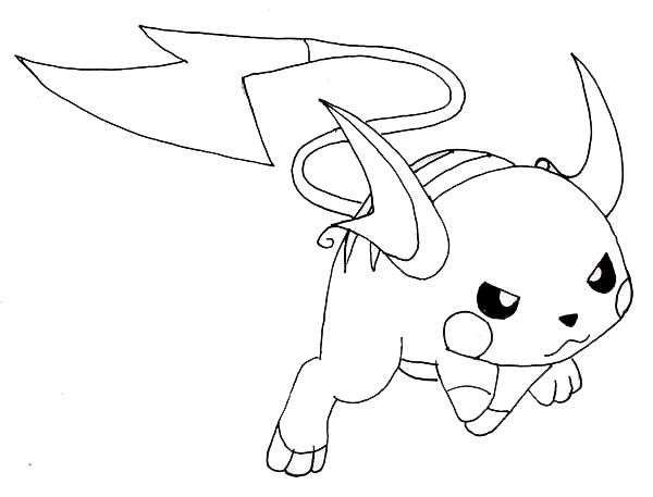 Raichu Coloring Pictures - Part 1 | Free Resource For Teaching pour Coloriage Pokemon Raichu