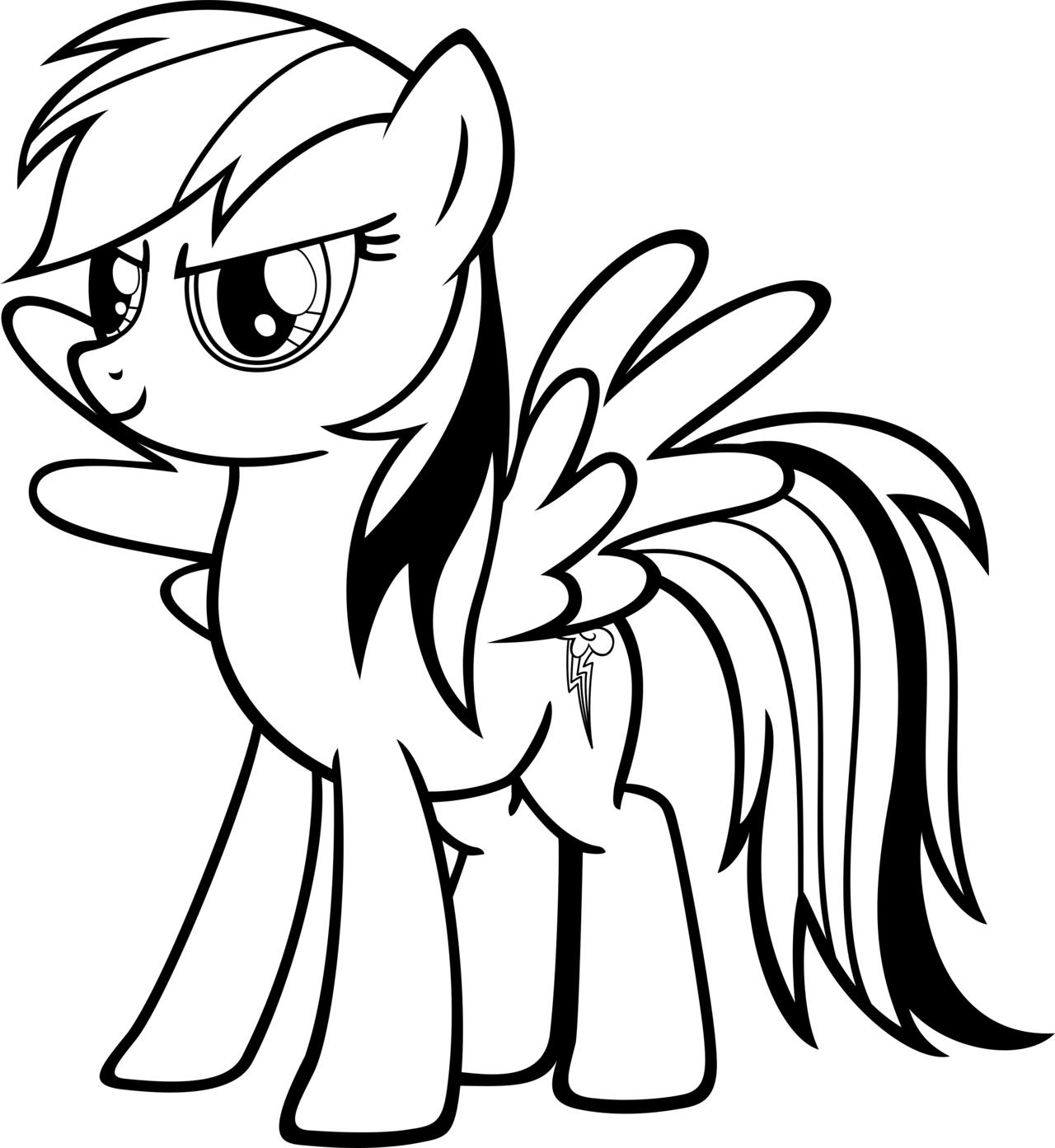 Rainbow Dash : Coloriage My Little Pony À Imprimer Gratuit pour Coloriage Gratuit My Little Pony