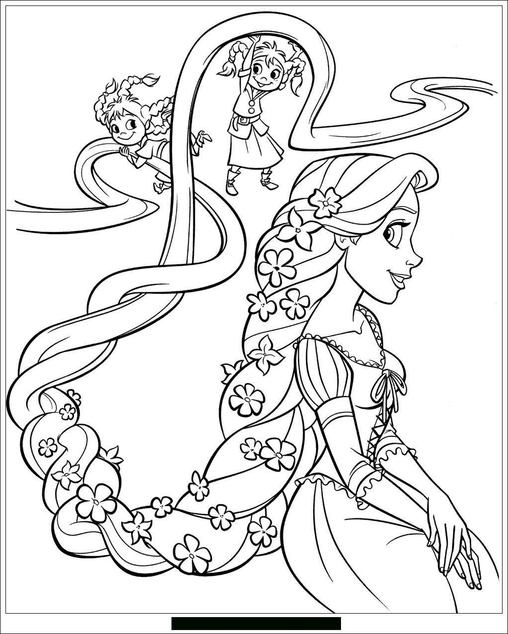Raiponce Disney 6 - Coloriage Raiponce - Coloriages Pour à Dessin Princesse Raiponce