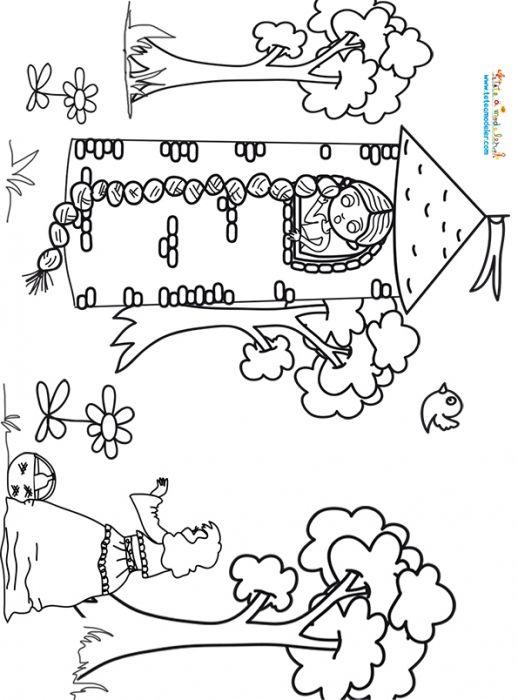 Raiponce Et La Sorcière, Coloriages De Raiponce Sur Tête À encequiconcerne Coloriage Nain De Jardin