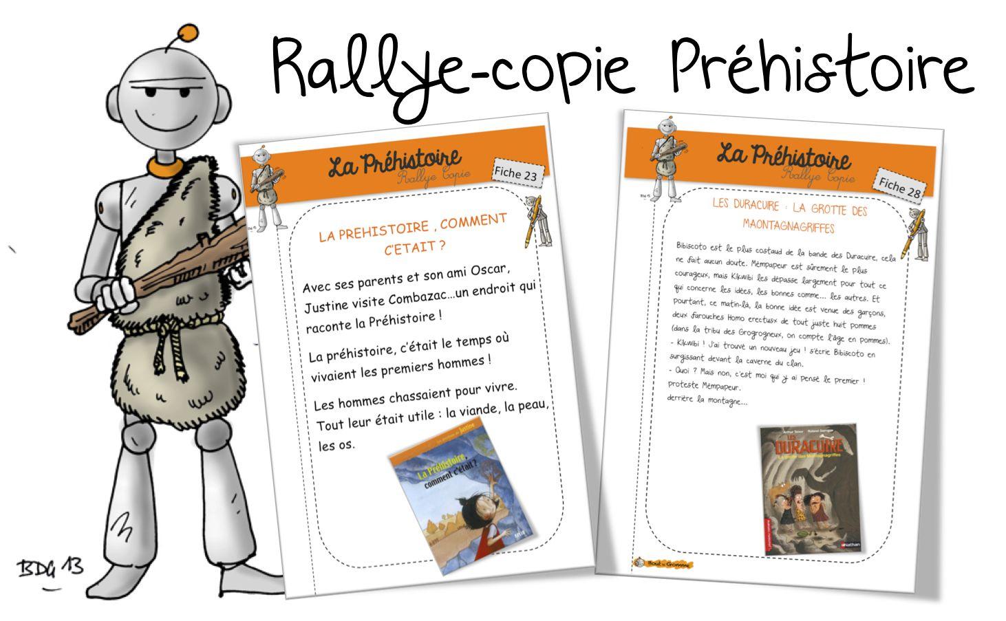 Rallye Copie Préhistoire | Préhistoire | Rallye Lecture pour Dessin De La Préhistoire A Imprimer
