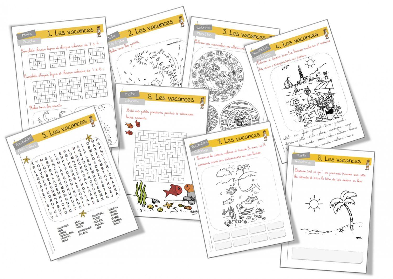 Rallye-Vacances Cycle 2   Jeux Ce2, Classe Ce1 Et Devoirs concernant Structurer Le Vocabulaire Cycle 2