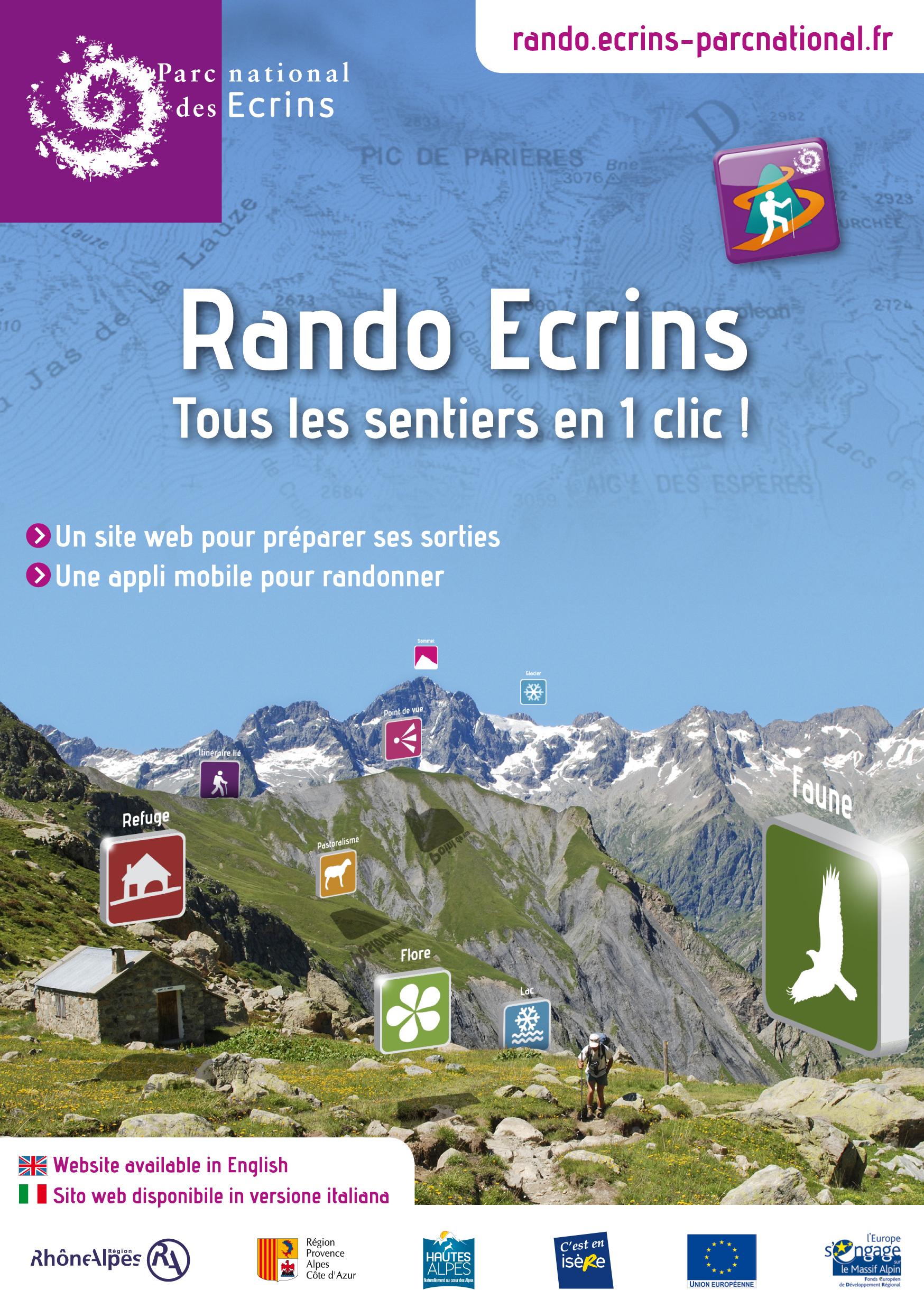 Rando Ecrins : L'Application Mobile Est Disponible avec Parc Des Ecrins