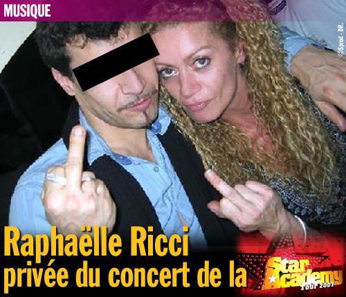Raphaëlle Ricci Privée Du Concert De La Star Academy Tour intérieur Star Academy 2007