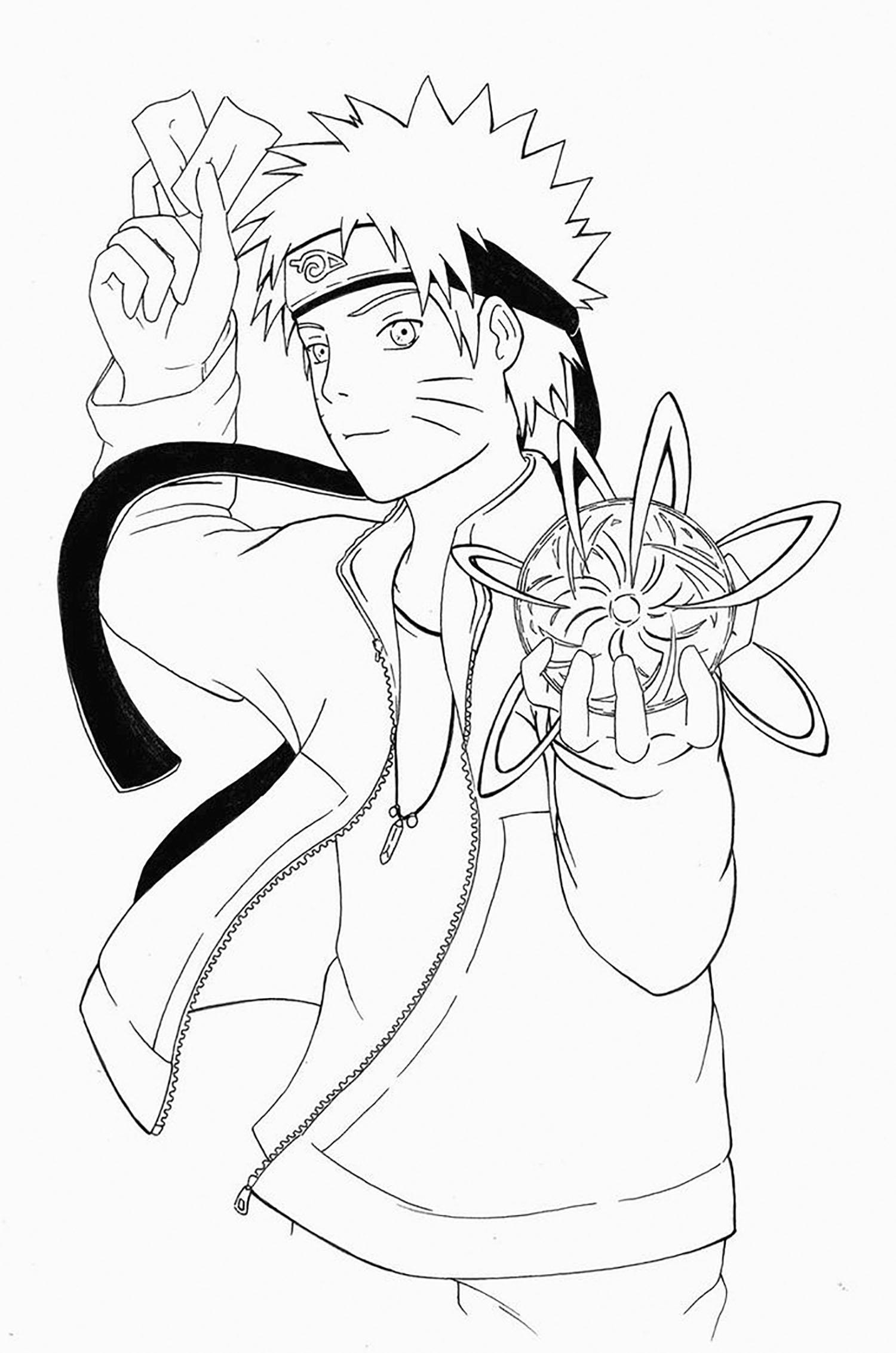 Rasengan - Coloriage Naruto - Coloriages Pour Enfants intérieur Coloriage Naruto