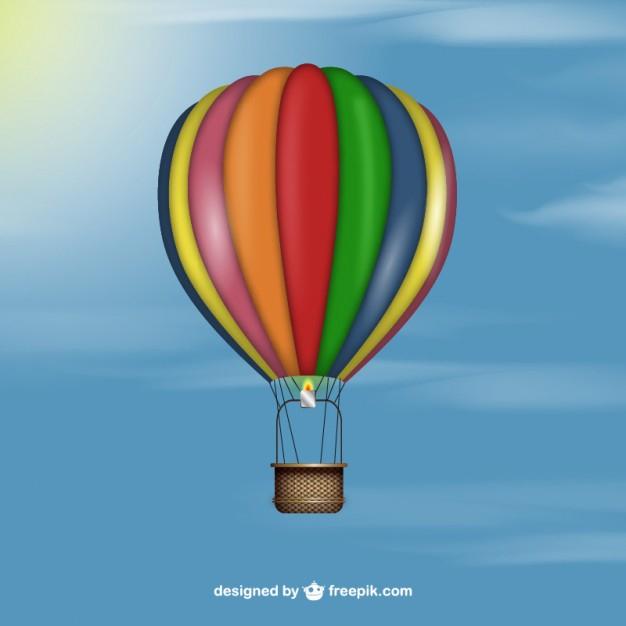Réaliste Montgolfière | Télécharger Des Vecteurs Gratuitement tout Dessin De Montgolfière