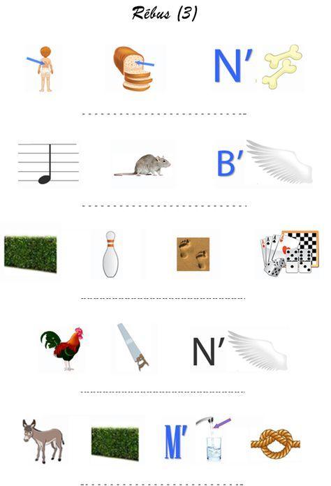 Rébus 3 (Avec Images) | Jeu De Piste, Jeux, Jeux De Devinettes destiné Jeu De Rebus