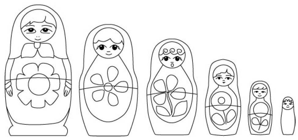 Redwork Matrio | Poupée Russe, Coloriage Enfant, Coloriage avec Coloriage Poupée Russe