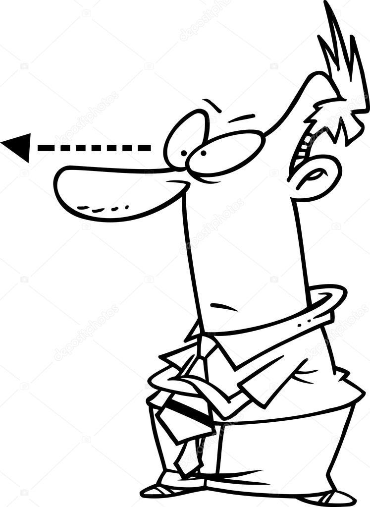 Regarder L'Homme Dessin Animé — Image Vectorielle avec Telecharger Des Coloriage