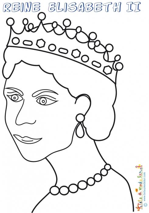 Reine Elisabeth 2, Coloriage À Imprimer - Coloriage Reine encequiconcerne Dessin De L Angleterre