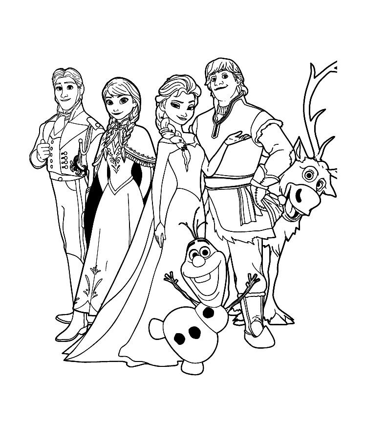 Reine Neige Disney Cast - Coloriage La Reine Des Neiges encequiconcerne Coloriage Reine Des Neiges