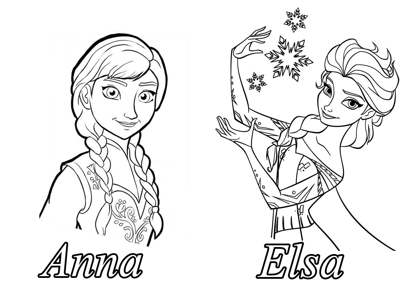 Reine Neige Disney Soeurs2 - Coloriage La Reine Des Neiges à Dessin À Imprimer La Reine Des Neiges