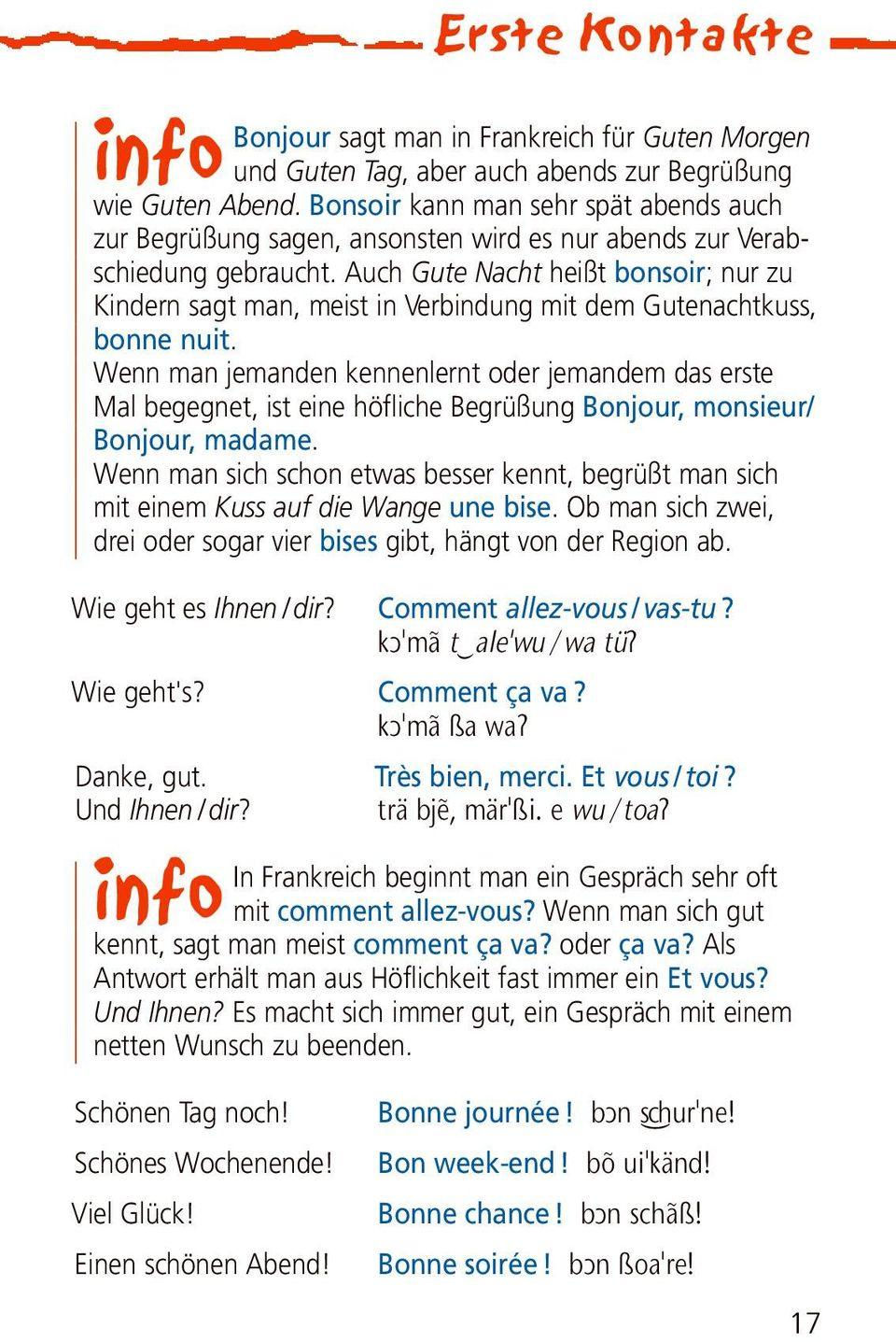 Reise. Langenscheidt. Sprachführer. Französisch. Für Alle intérieur Bonjour Monsieur Lundi. Comment Ca Va