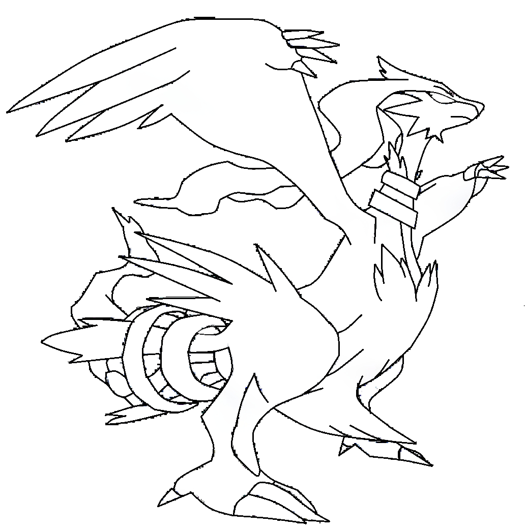 Reshiram : Coloriage Pokemon Légendaire Reshiram À dedans Coloriag Pokemon