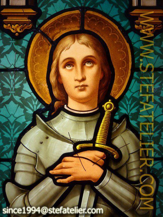 Restauration Vitrail Jeanne D'Arc (Avec Images) | Jeanne D encequiconcerne Dessin Magique Ste Jeanne D'Arc
