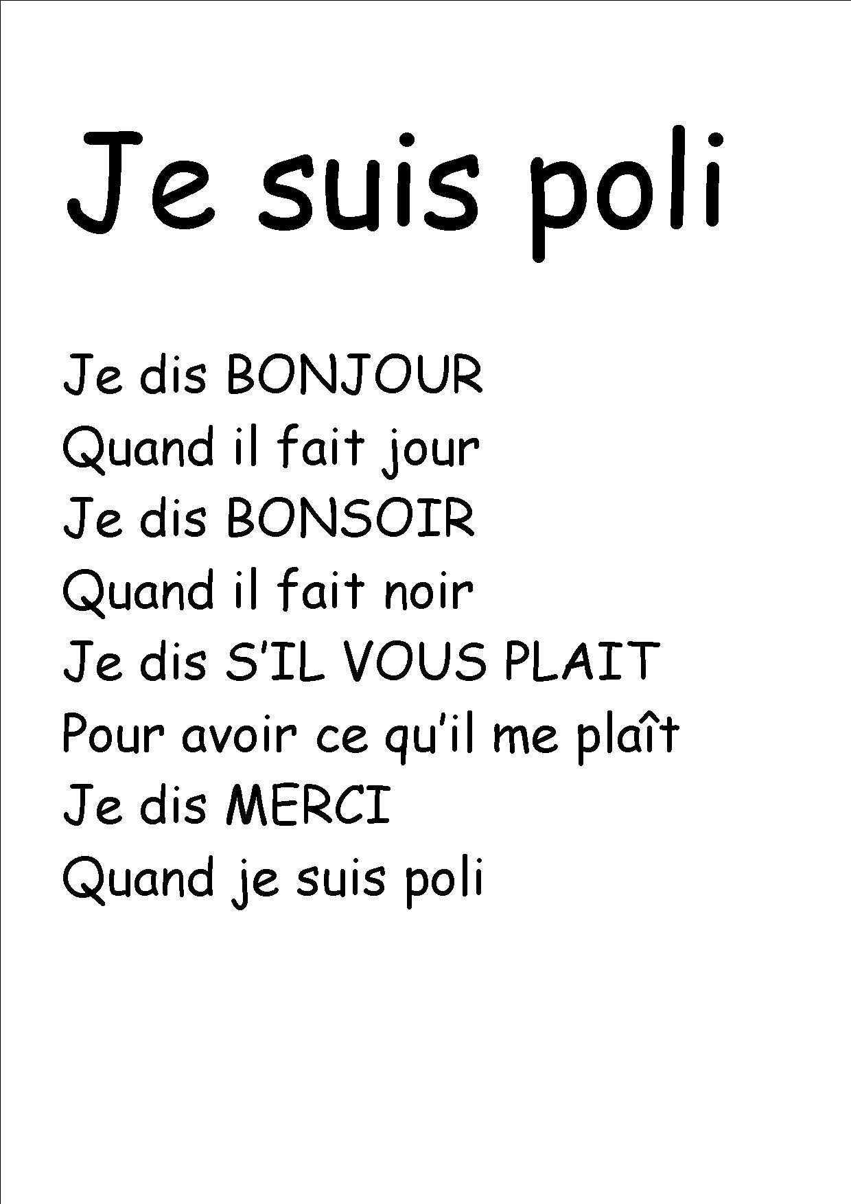 """Résultat De Recherche D'Images Pour """"Comptine Je Dis avec Vive Les Vacances Poeme Pour Enfant"""