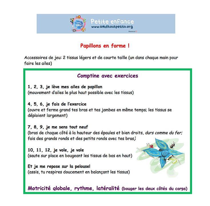 """Résultat De Recherche D'Images Pour """"Comptine Sur Le à Comptine Papillon"""