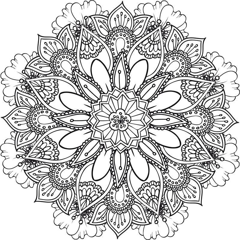 Retrouvez Deux Nouveaux Coloriages, Des Mandalas Floraux encequiconcerne Coloriage Mandala Adulte A Imprimer