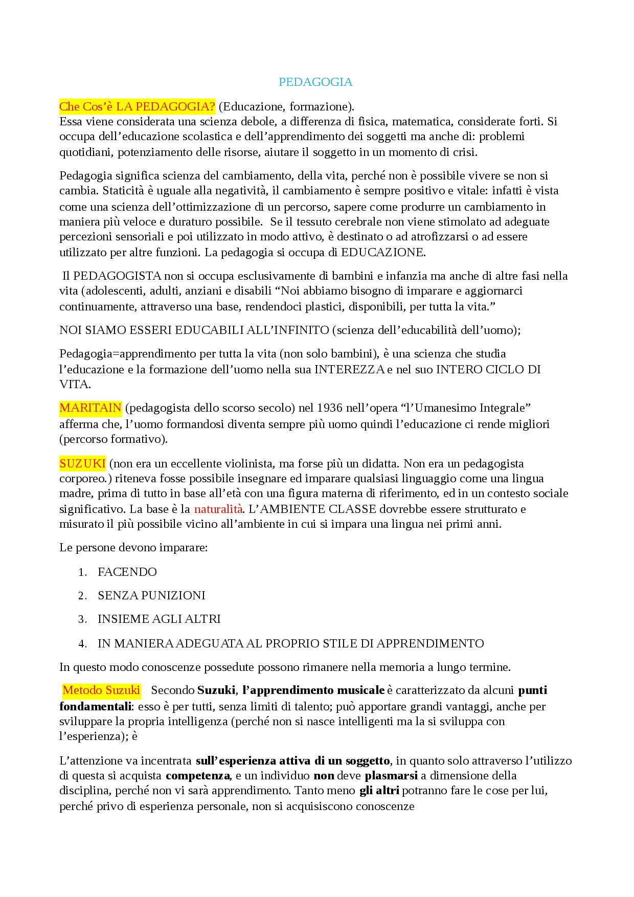 Riassunto Del Libro Di Pedagogia - Docsity dedans Docsity