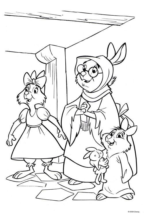 Robin Hood Coloring Page | Disney Coloring Pages, Horse concernant Coloriage Robin Des Bois Disney
