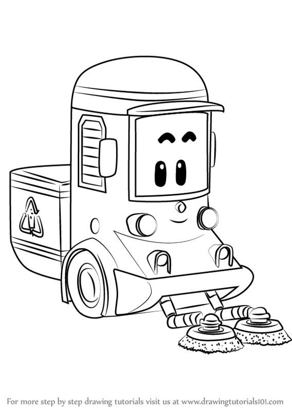 Robo Car Poli Kleurplaat Leuk Voor Kids - Poli avec Robocar Poli Coloriage A Imprimer